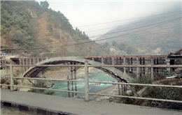 Construction of model bridge in Muglin completed
